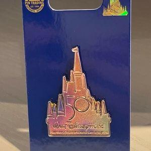 2021 Walt Disney World 50th Anniversary Cinderella Castle Pin